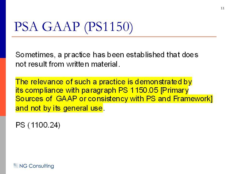 11 PSA GAAP (PS1150)