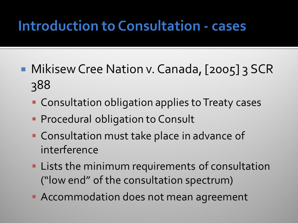  Mikisew Cree Nation v.