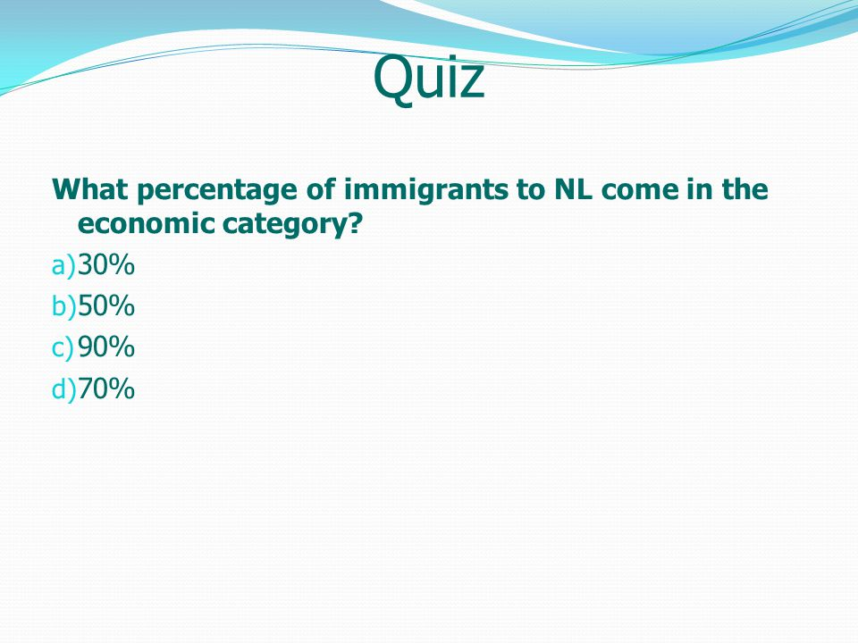 What percentage of immigrants to NL in 2012 came in the economic category.