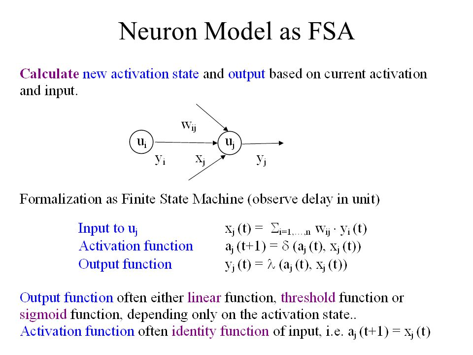 Neuron Model as FSA