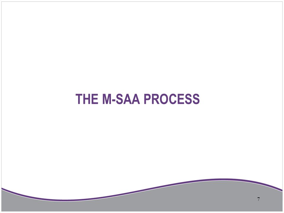 THE M-SAA PROCESS 7