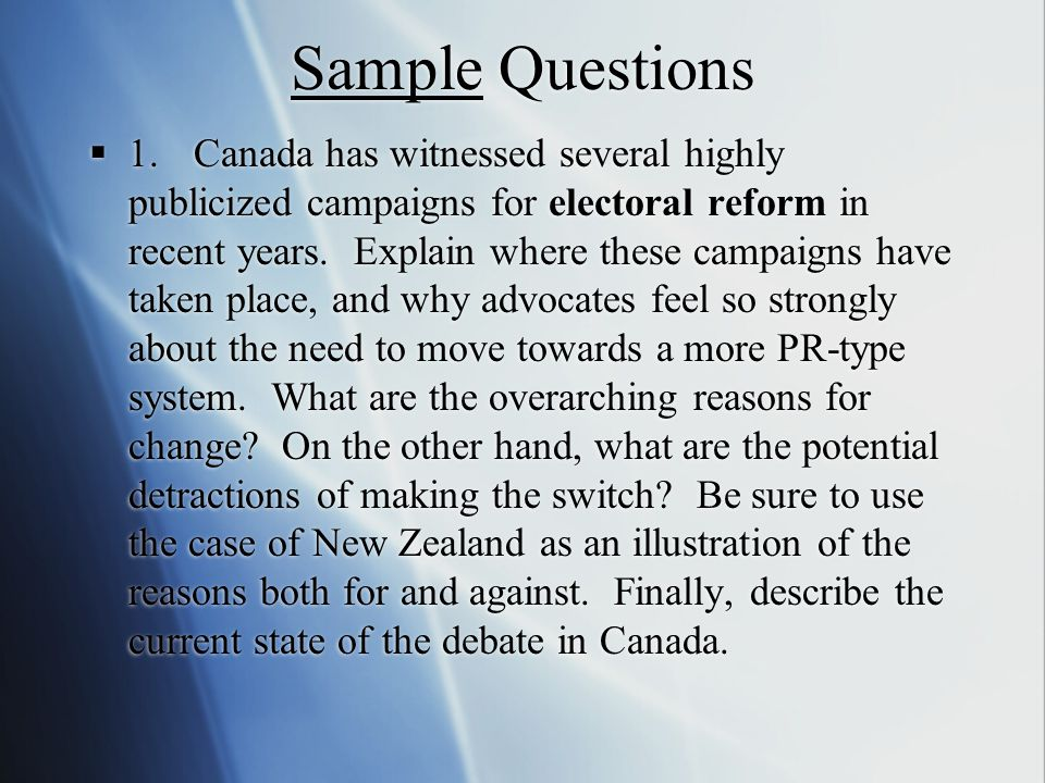 Sample Questions  1.
