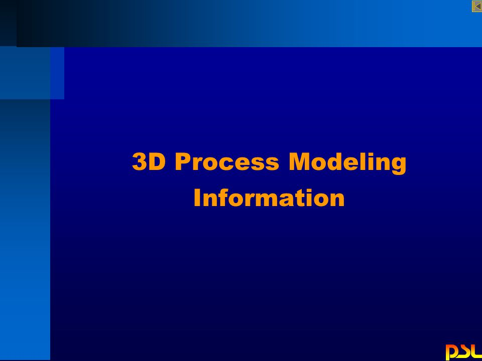 3D Process Modeling Information