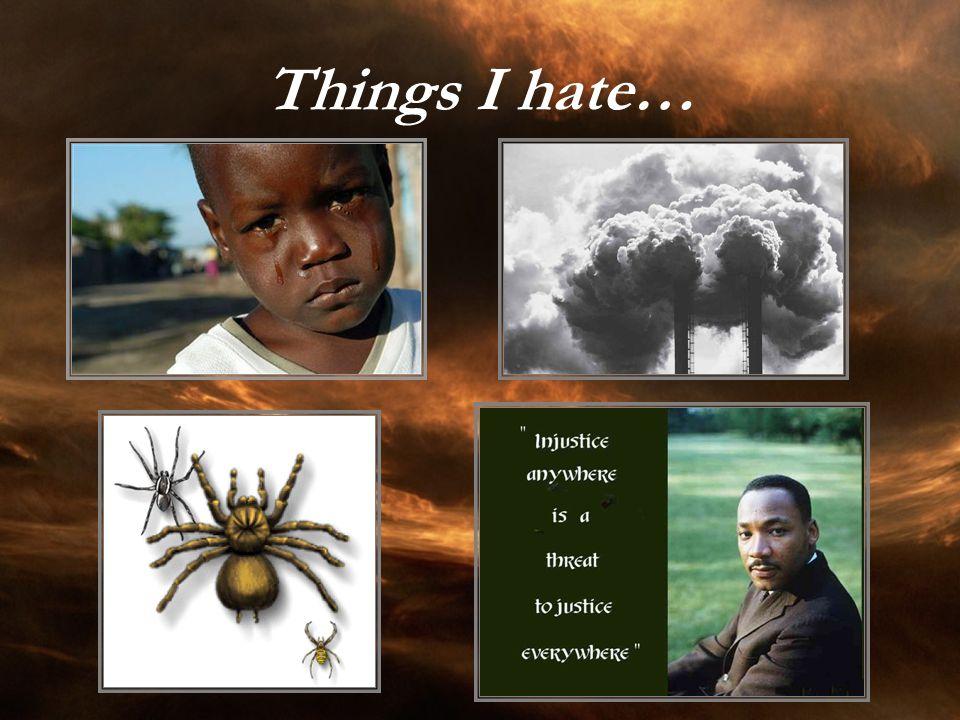 Things I hate…