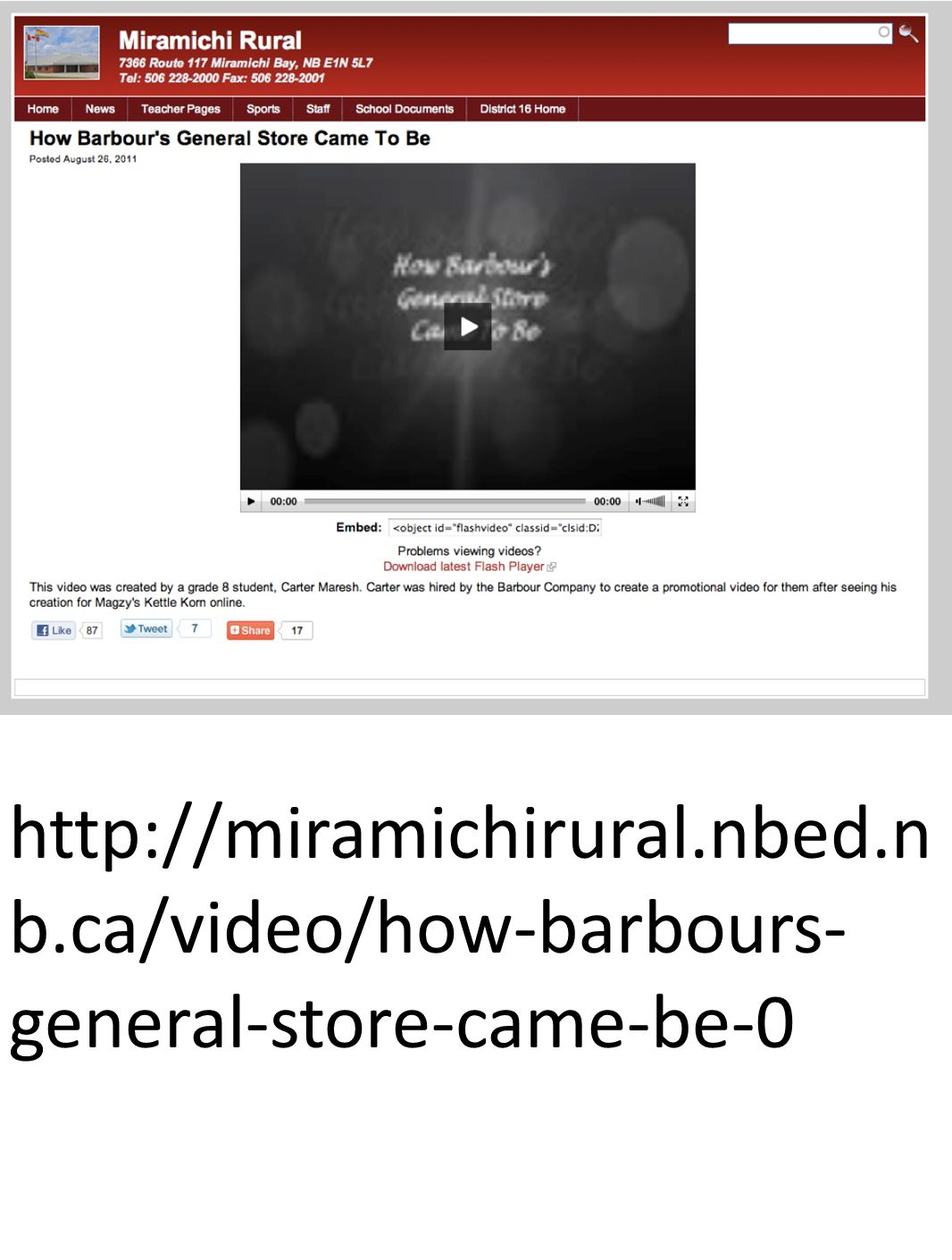 http://miramichirural.nbed.n b.ca/video/how-barbours- general-store-came-be-0