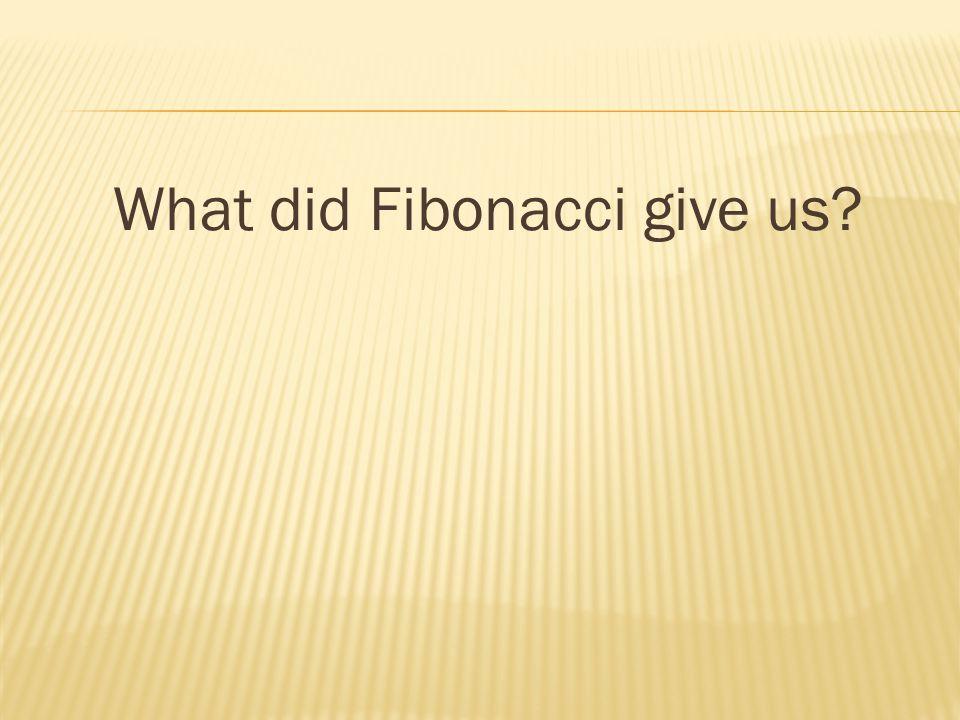 What did Fibonacci give us?