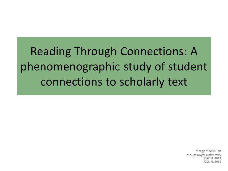 Reading Connections Why help students read more effectively.