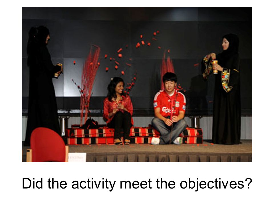 Did the activity meet the objectives?