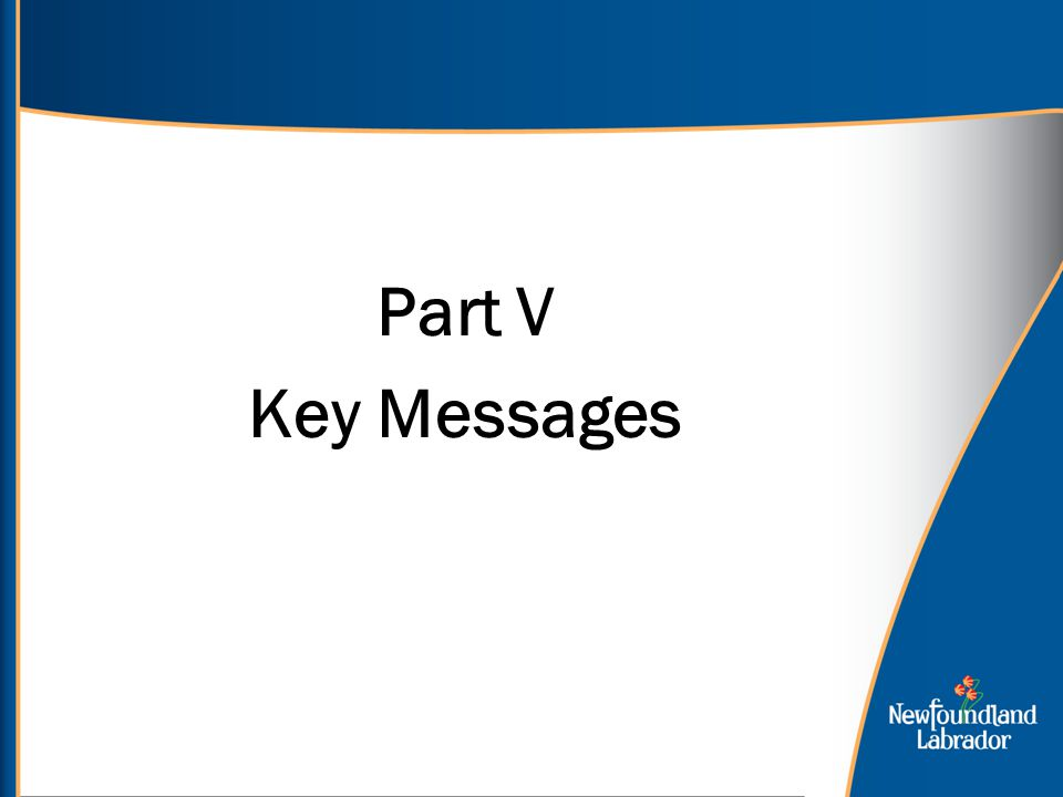 Part V Key Messages