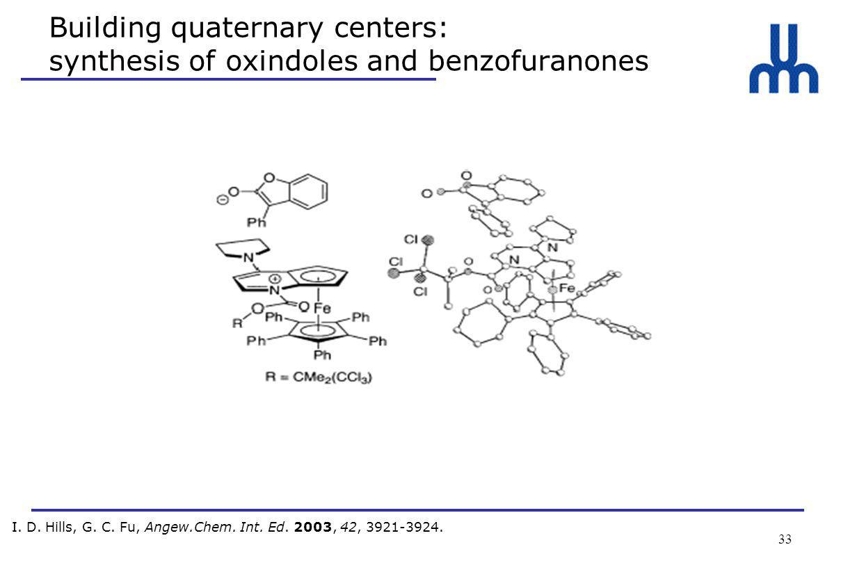33 Building quaternary centers: synthesis of oxindoles and benzofuranones I.