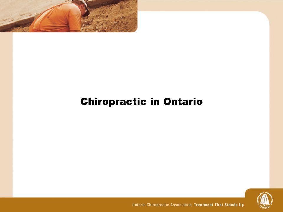 Chiropractic in Ontario
