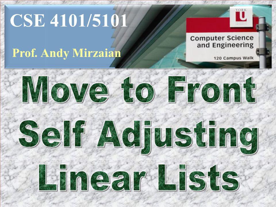 CSE 4101/5101 Prof. Andy Mirzaian