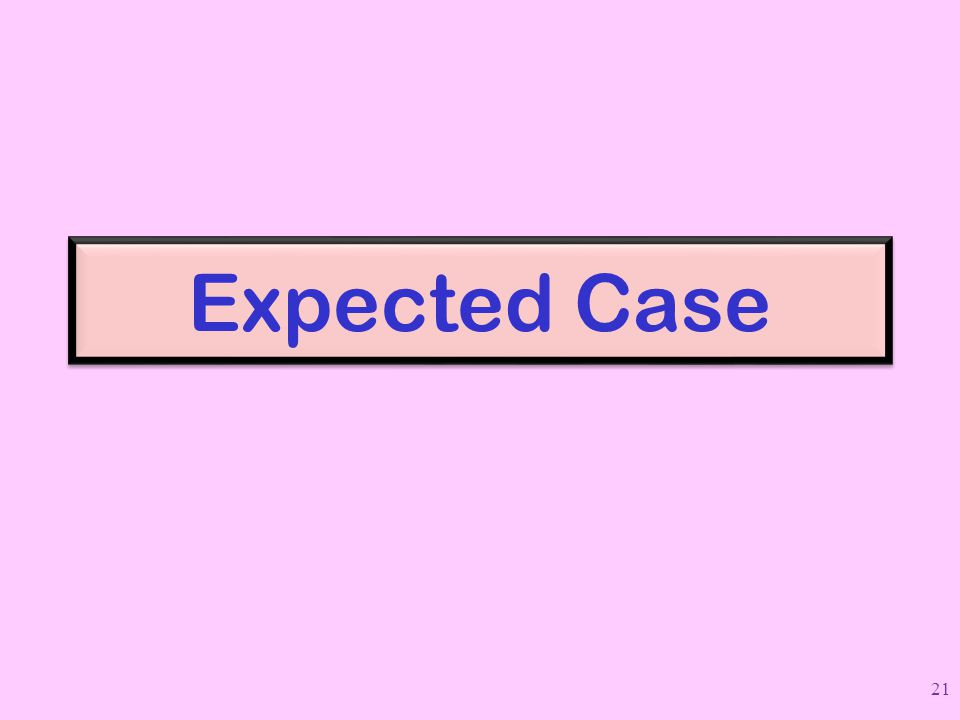 Expected Case 21