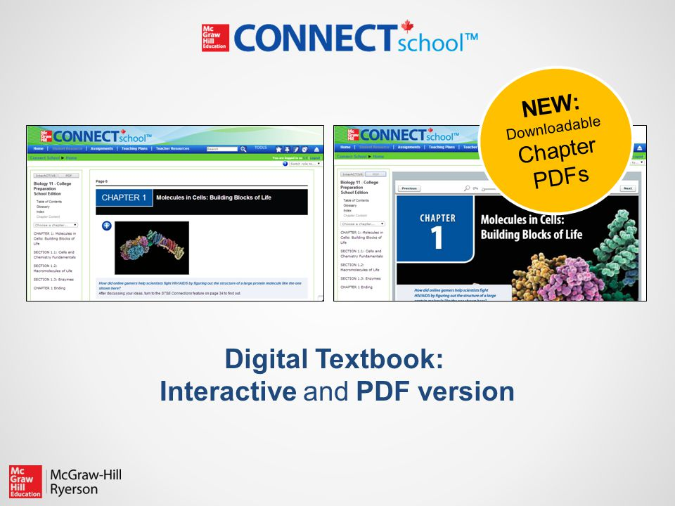 Digital Textbook: Interactive and PDF version NEW: Downloadable Chapter PDFs
