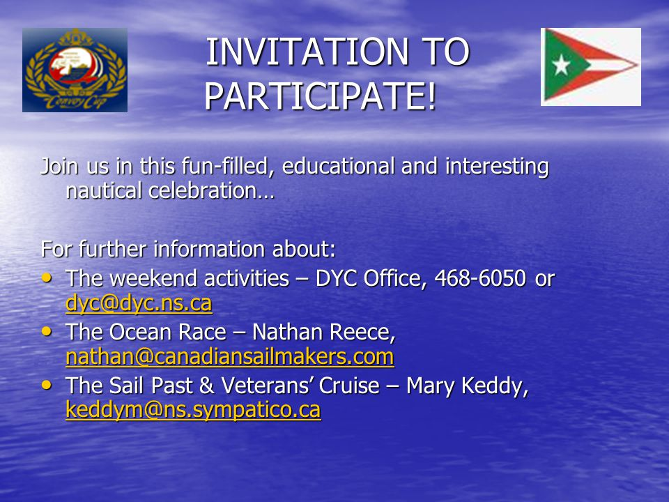 INVITATION TO PARTICIPATE.