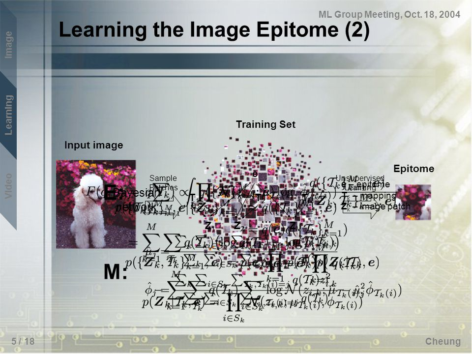 Image Learning Video ML Group Meeting, Oct.