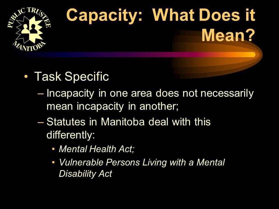 Capacity: Who Decides.