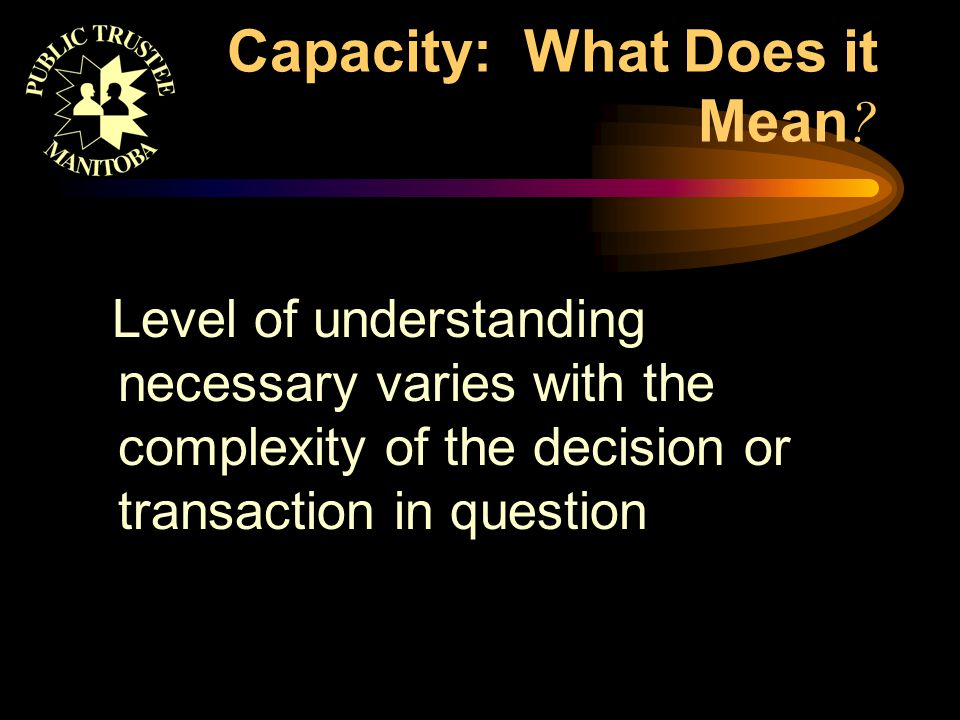 Why is Capacity Relevant.