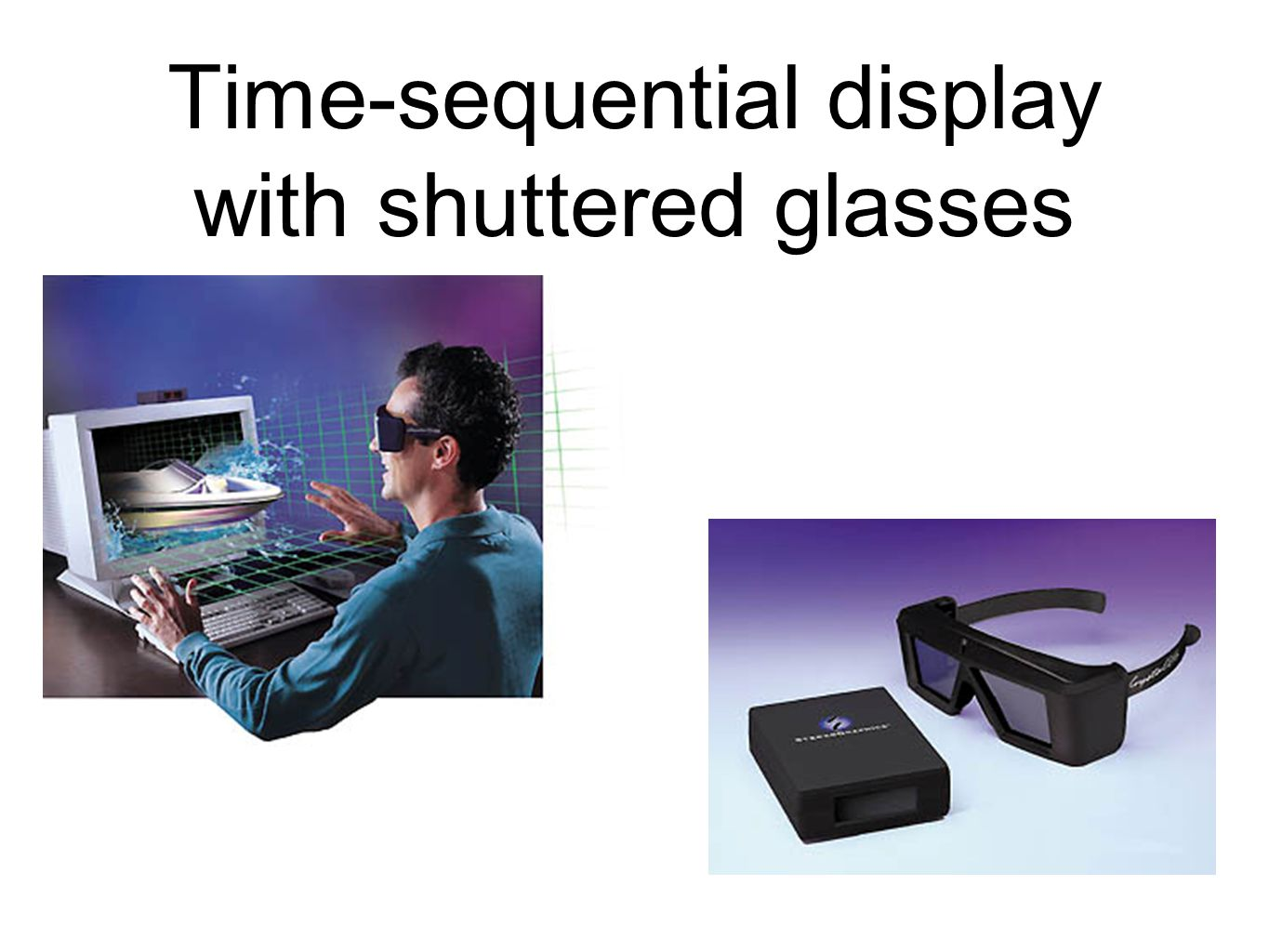 Time-sequential display with shuttered glasses