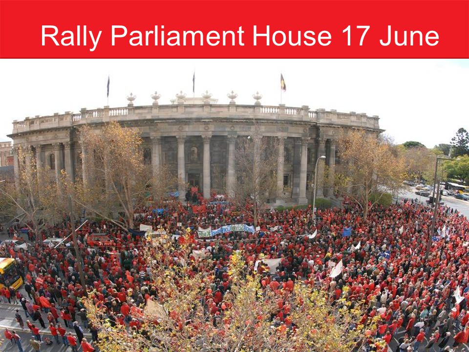 Rally Parliament House 17 June