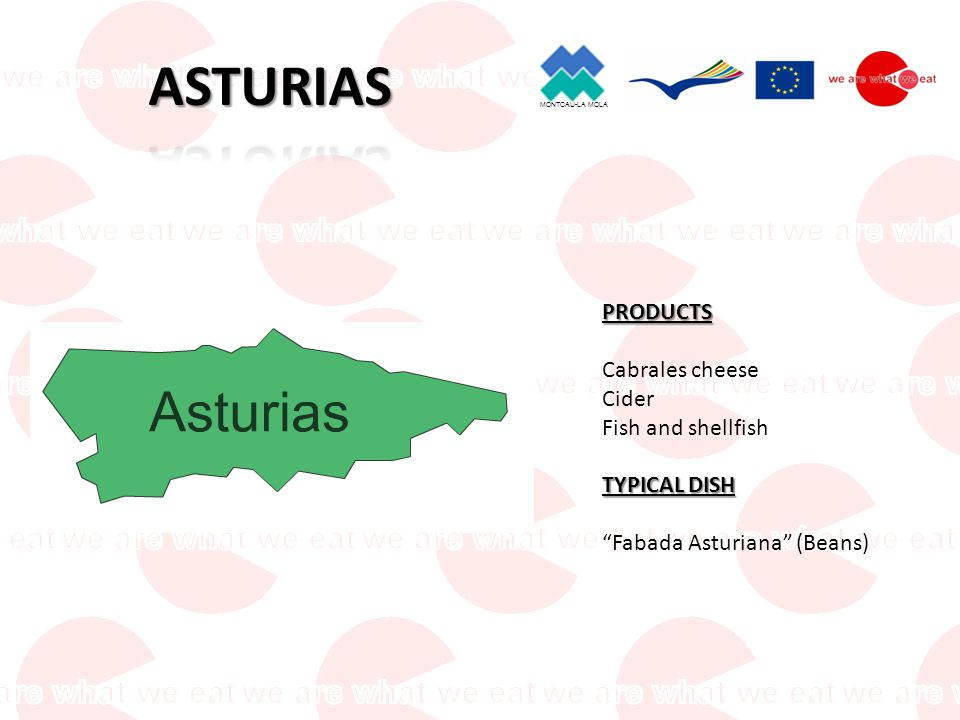 MONTCAU-LA MOLA PRODUCTS Anchovies Fish and shellfish Cheeses TYPICAL DISH Cocido montañés (meet &vegetables soup)
