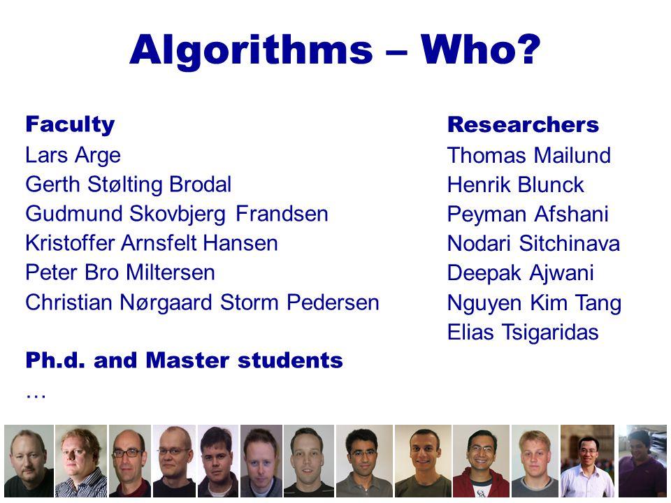 Algorithms – Where .