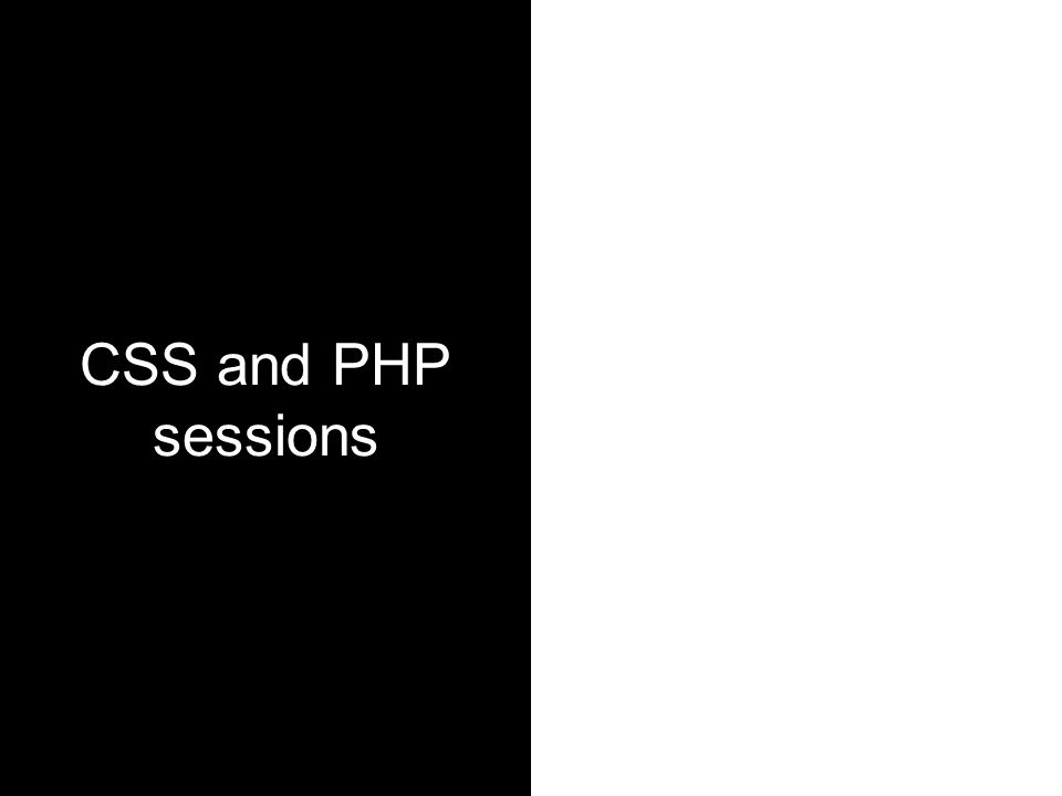 CSS and PHP sessions