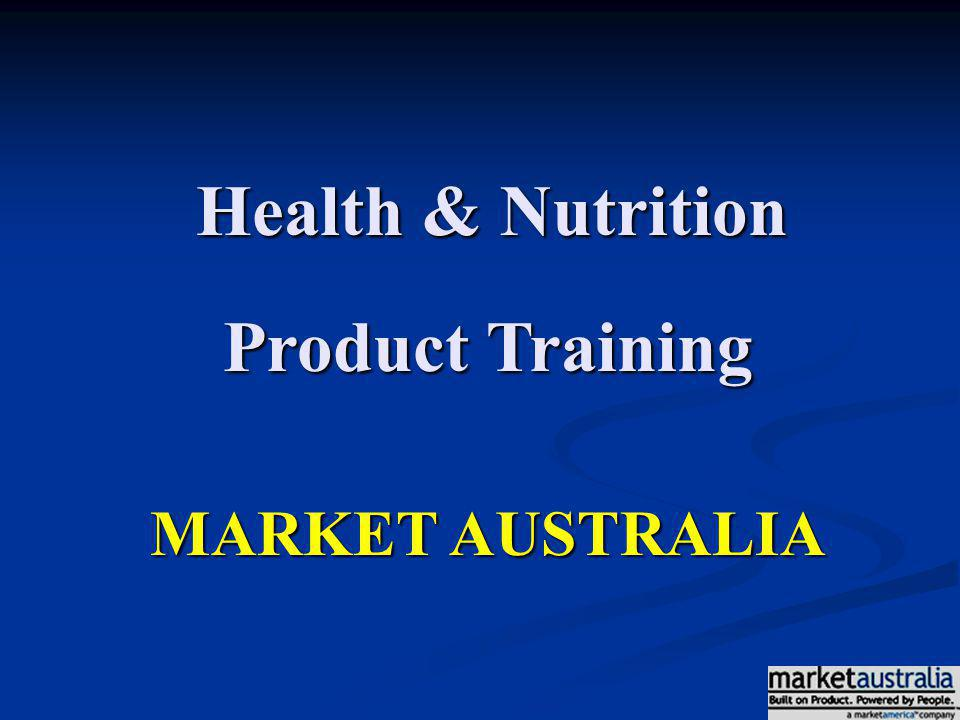 Health & Nutrition Product Training MARKET AUSTRALIA