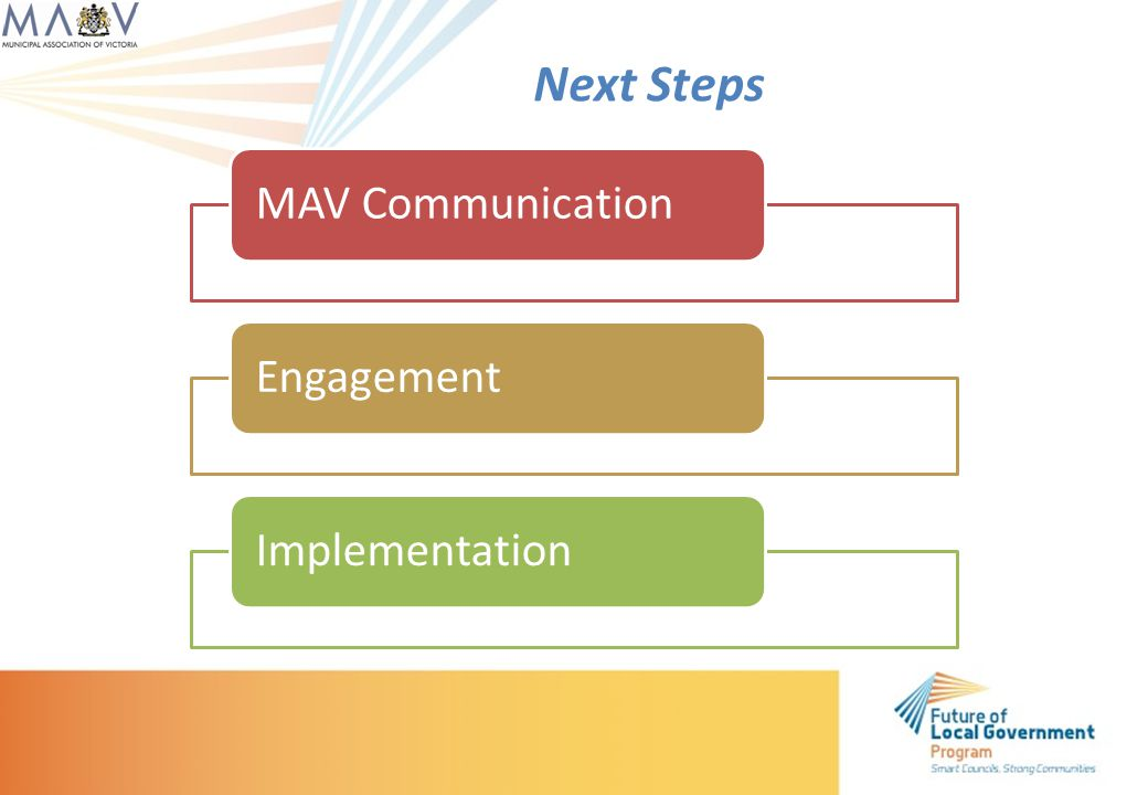 MAV CommunicationEngagementImplementation Next Steps