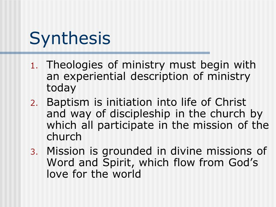 Synthesis 1.