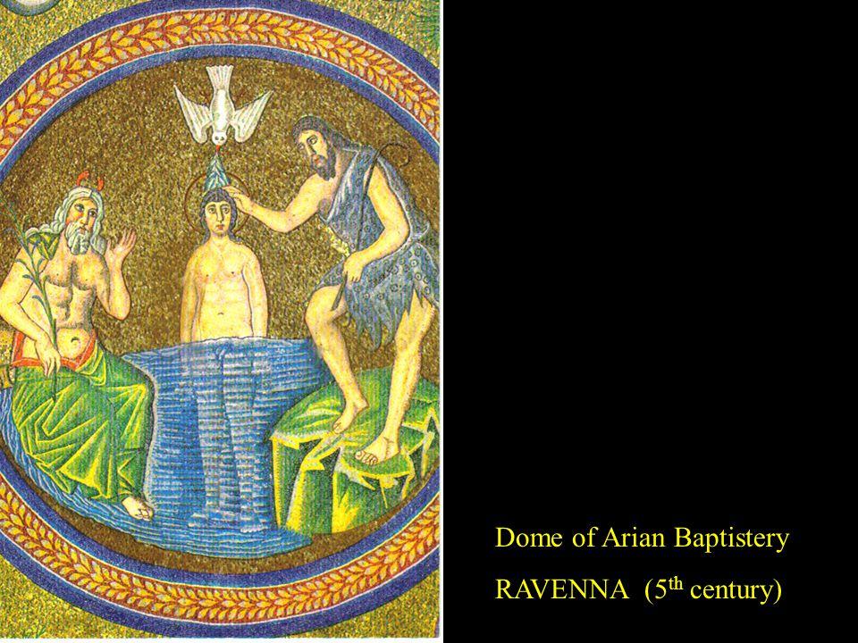 Dome of Arian Baptistery RAVENNA (5 th century)