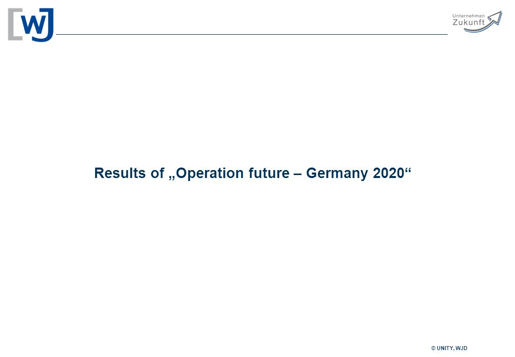 """© UNITY, WJD Results of """"Operation future – Germany 2020"""
