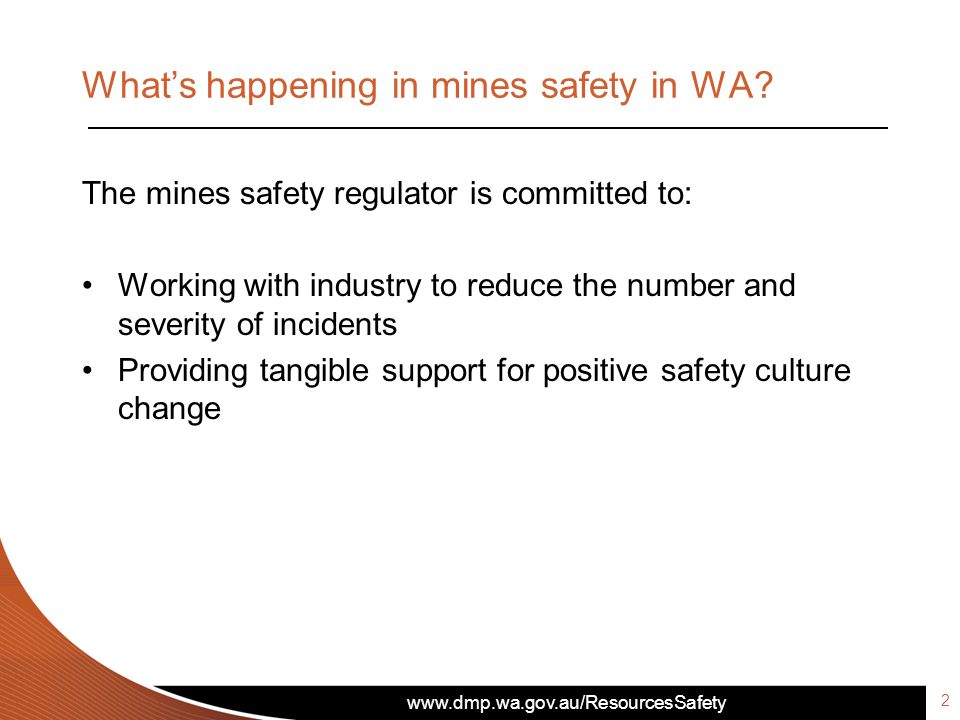 What's happening in mines safety in WA.