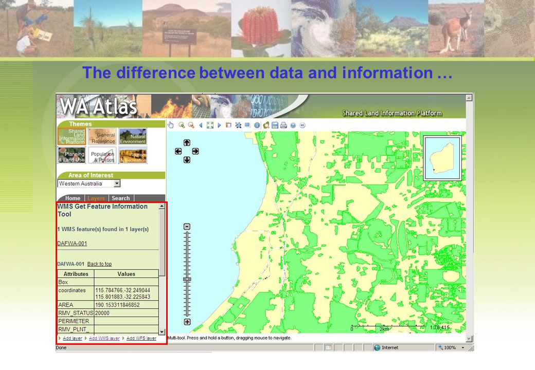 The difference between data and information …