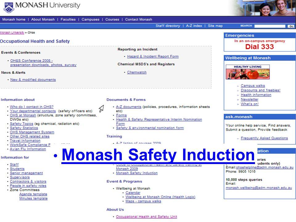 Monash Safety Induction