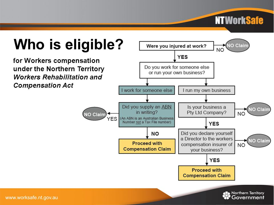 Who is eligible? for Workers compensation under the Northern Territory Workers Rehabilitation and Compensation Act