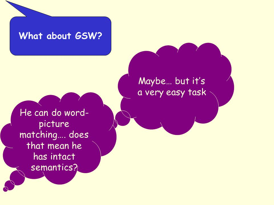 Maybe… but it's a very easy task What about GSW.He can do word- picture matching….