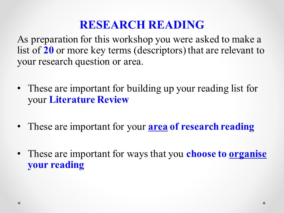 ANALYTICAL READING/WRITING You need to read analytically while you are reading descriptively for your Lit Review.