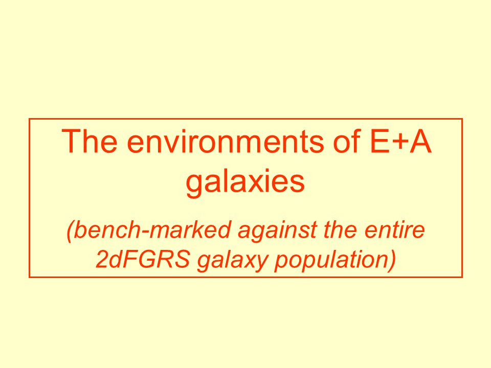 The environments of E+A galaxies (bench-marked against the entire 2dFGRS galaxy population)