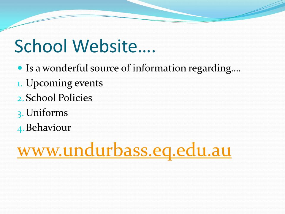 School Website…. Is a wonderful source of information regarding….