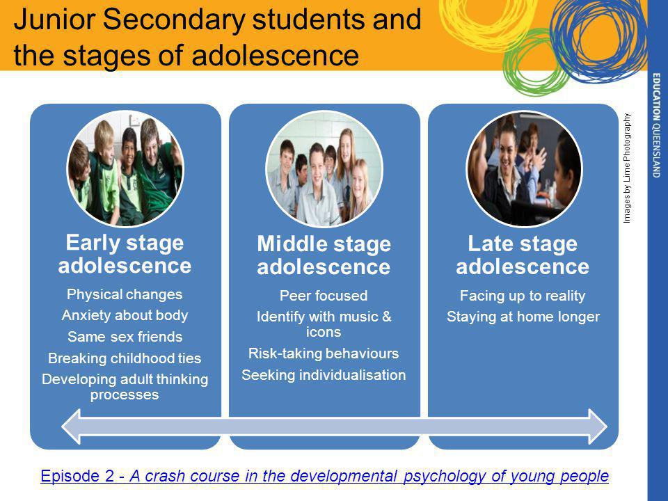 Junior Secondary students and teenage brain development Unused connections discarded Connections strengthened Development occurs inside out and front to back New connections developed During adolescence, the brain undergoes significant reorganisation, impacting on how students engage/ disengage from learning environments.