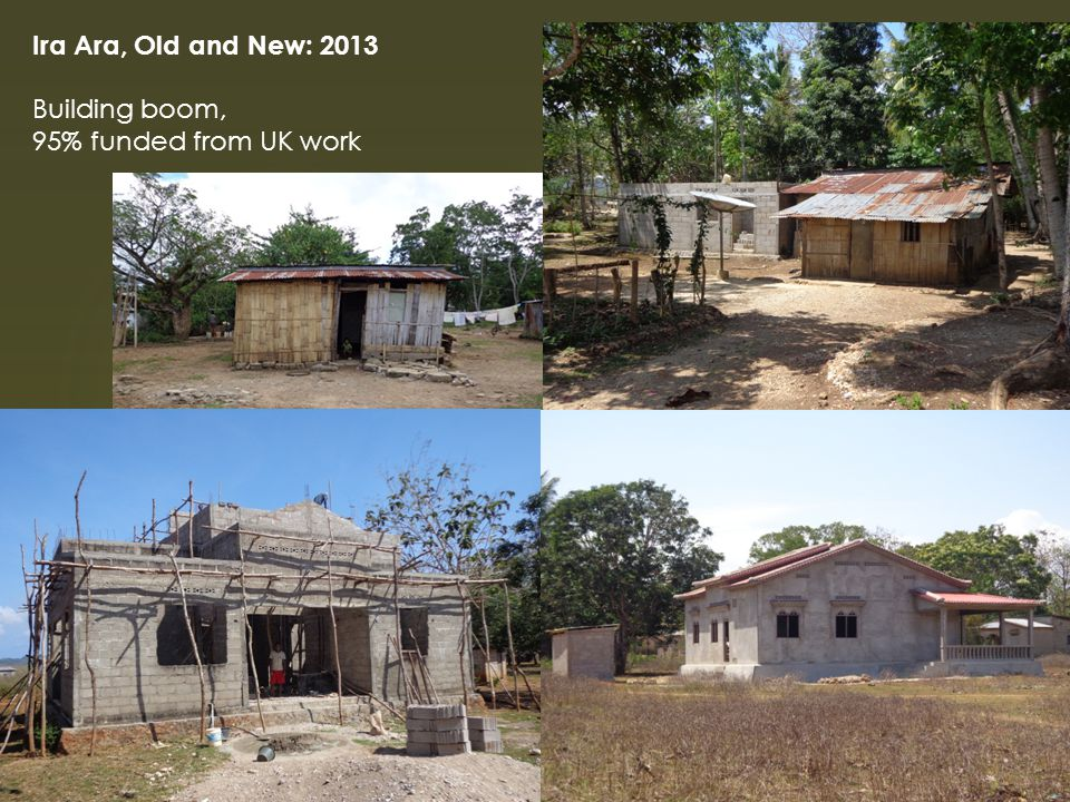 Ira Ara, Old and New: 2013 Building boom, 95% funded from UK work