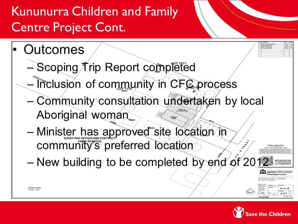 Kununurra Children and Family Centre Project Cont.