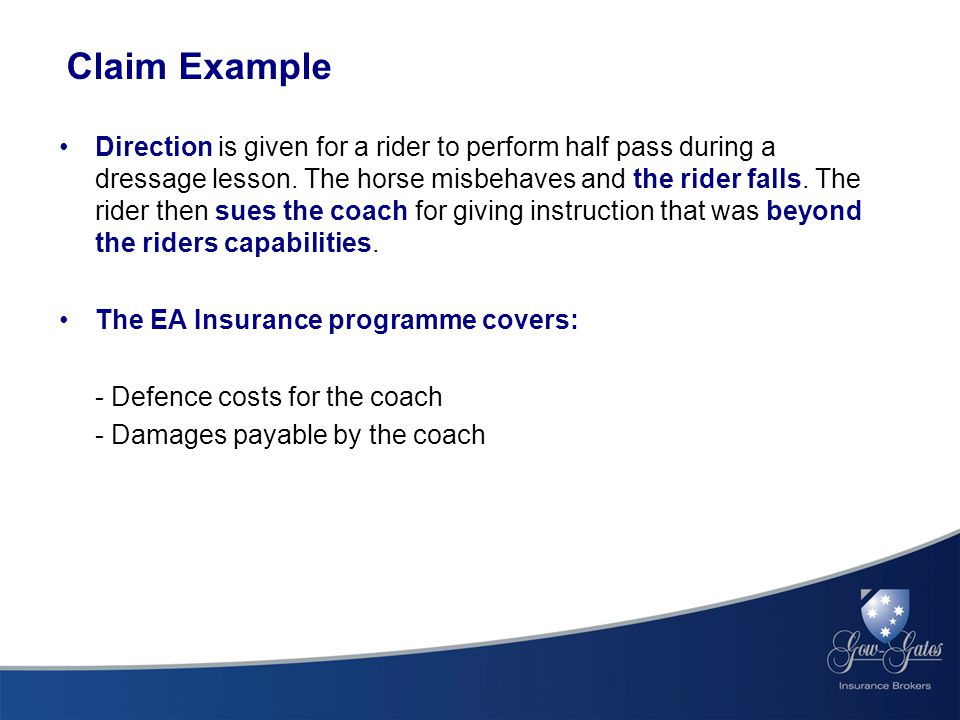 Claim Example Direction is given for a rider to perform half pass during a dressage lesson.