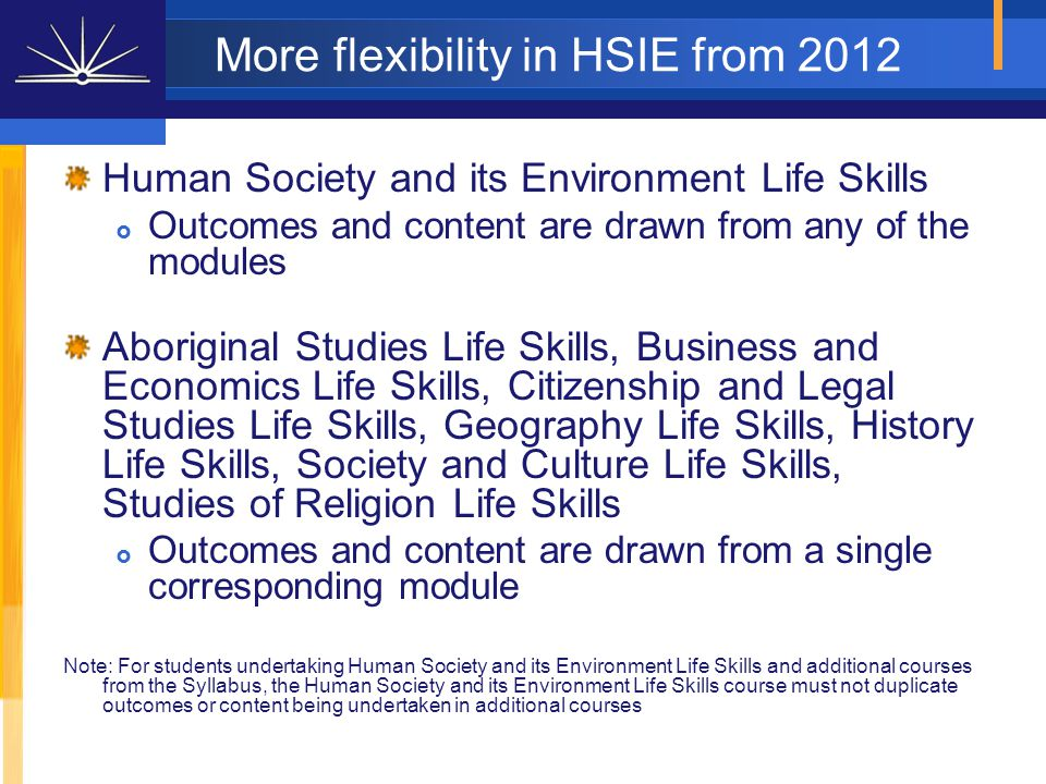 Board Developed Courses an HSC examination is typically completed (except Life Skills courses) a moderated assessment mark is awarded (except VET and Life Skills courses) may count towards an ATAR (except Life Skills or VET courses where the student is not undertaking an examination) 10 units required for ATAR (ACE Manual, Sections 6.1 and 6.2)