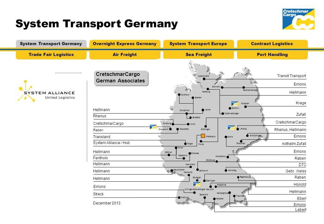 System Transport Germany CretschmarCargo German Associates Air FreightTrade Fair LogisticsSea FreightPort Handling System Transport GermanyOvernight E