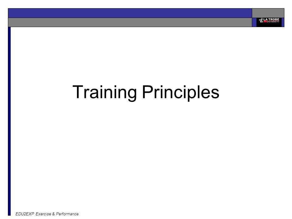 EDU2EXP Exercise & Performance Training Principles