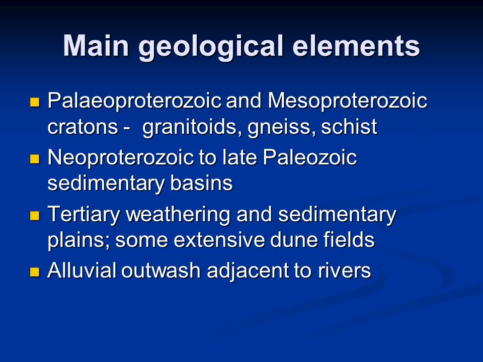 Physiography Dominated by the east-north-east-trending McDonnell Ranges High ranges and hills are made up mostly of Proterozoic crystalline and metamorphic rocks that form ranges with subdued relief Low ranges and hills may have sharp crests.