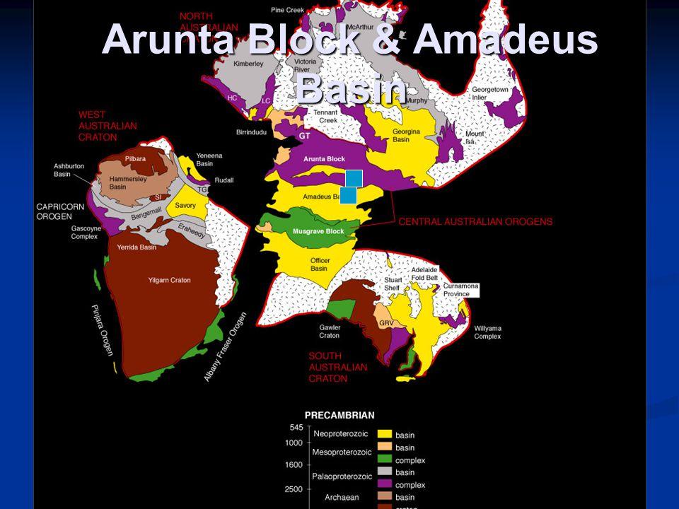Arunta Block Extensive c.1870 Ma sediments and volcanics Extensive c.