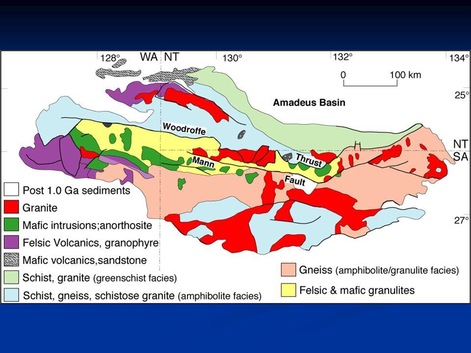 Amadeus & Georgina Basins Neoproterozoic basins abundant in Australia Neoproterozoic basins abundant in Australia Mostly weakly deformed, except in Adelaide foldbelt Mostly weakly deformed, except in Adelaide foldbelt Inconsistent mostly shallow marine sedimentation from c.